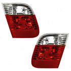 New Pair Set Back-Up Backup Light Lid Mounted Lens Assembly 02-05 BMW 3 Series