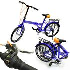 "XTREME RIDE 20"" CITY FOLDING BLUE BICYCLE SHIMANO 6 SPEED FOLDABLE BIKE NEW"