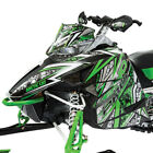 Arctic Cat Green Throttle Hood & Side Panel Decal Wrap - 2012-2018 ZR F XF M