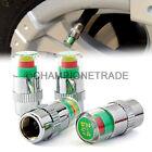 4Pcs Air Pressure Tire Monitor Alert Valve Stem Caps for Motorcycle Bike ATV CT