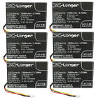 6pc 3.7V Battery Fits Opticon PHL-1300 OPL-9714 OPL-9715 OPL-9815 Logistics Scan