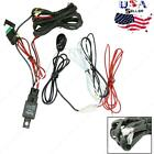Universal Relay Harness Wire Kit + LED ON / OFF Switch Fog Lights HID Worklamp