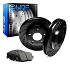 [REAR] Black Edition DRILL/SLOT Brake Rotors & Semi-Met Brake Pads RBC.3507502