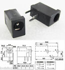 100pcs Mini DC Power Supply Female Socket 3.5x1.3mm Black Plastic PCB Mount 3pin