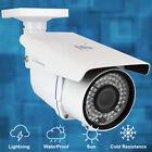 (2) 1920P 5MP IP PoE Security Camera Weatherproof Varifocal Lens 180 Ft IR