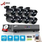 ANRAN 8CH 1080N H.264 DVR 1800TVL 720P IR-CUT CCTV Security Camera System 1TB