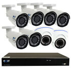 8 Channel 4k NVR + 2 x 5MP Dome + 6 x 4MP Bullet IP Security Camera System 2T HD