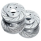 Brake Rotors [2 Front + 2 Rear] POWERSPORT *DRILLED & SLOTTED* DISC BN00918