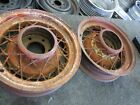1933-34 35 36 37 38 39 CHEVY WIRE SPOKE WHEELS 6 LUG RIM CHEVY COUPE RAT ROD
