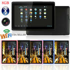 "7""Google Android 4.4 Quad Core Tablet PC 8GB Dual Camera Wifi Bluetooth US STOCK"