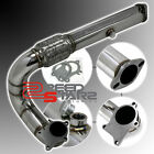 "B/D ENGINE 3"" T3/T4 5 BOLTS FLANGE TURBO CHARGER STAINLESS STEEL DOWNPIPE+GASKET"