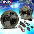 SMOKED GLASS LENS UNIVERSAL FRONT BUMPER DRIVING FOG LIGHT LAMP+HARNESS+SWITCH