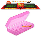 4 pcs PINK PLASTIC STORAGE CASE HOLDER BOX For 18650 16340 CR 123A BATTERY
