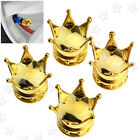4x Car Bicycle Gold Crown Style Air Tyre Valve Dust Bolt Caps Covers