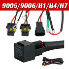 1x 9006/9005/H1/H4/H11 Xenon HID Conversion Lamp Relay Wiring Harness Kit