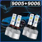 2Pair OSLAMP LED Headlight Bulbs total 2000W 9005 9006 High+Low Beam Combo 6000K