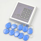 Standalone RFID Card Reader PIN Keypad Entry Access Security Control 10 Key FOB