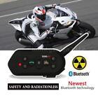 E6 1200M Black Bluetooth Motorcycle Helmet Interphone Intercom Headset 6 Rider