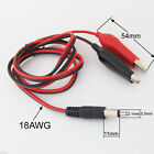 1set 1M 5.5 x 2.1mm DC Power Male Plug to Dual 45mm Alligator Clip 18AWG Cable