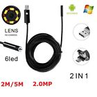 5M USB 6LED Android Cellphone Endoscope Borescope Inspection Camera Tablet PC US