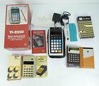 Vintage Calculators Lot of 3 Texas Instruments Novus Sharp Cheap
