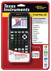 Texas Instruments TI-84 Plus CE Graphing Calculator Black Sleek Color Display