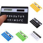 8 Digits Ultra Thin Mini Slim Credit Card Solar Power Pocket Calculator GM