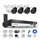 4CH Bullet HD 1080P POE ONVIF Security IP Camera Audio System Outdoor IR Night