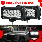 """2X 7"""" 36W Cree Led Work Light Bar Spot Pencil Offroad for SUV Boat Truck US Ship"""