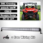 "52""INCH 700W CREE DRL LED LIGHT BAR OFFROAD Suv Polaris Sportsman Ace EPs RZR RV"