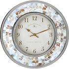 Coastal Pearl Mosaic Wall Clock Pearlesent Shells 10 1/4 Inch Elegant Quartz NEW
