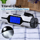 Digital World Time Travel Alarm Clock Thermometer LED Outdoor Torch Flashlight