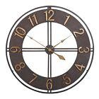 "Studio Designs 30"" Industrial Loft Analog Home Decor Wall Clock, Dark Bronze"