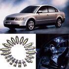 20pcs Car Auto Interior White LED Light Bulb Kit for VW PASSAT B5 1997-2000