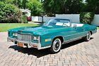 1976 Cadillac Eldorado Convertible 25k Original Miles Absolutely Gorgeous Beautiful Greenbriar Green Paint Excellent Chrome must see this one simply sweet