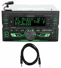 Kenwood DPX303MBT In-Dash CD Receiver w/Bluetooth USB/MP3/Remote App + AUX Cable