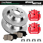 For 2000 2001 2002 2003 2004 EXCURSION F250 F350 Rear Brake Calipers Rotors Pads
