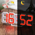 Modern Red LED Digital Numbers Table Wall Clock Brightness Dimmer Snooze Timer