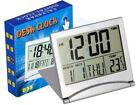 Travel Foldable Desk Alarm Clock with Calendar Alarm Day Temperature