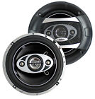 """2) NEW BOSS AUDIO P65.4C 6.5"""" 4-Way 400W Car Coaxial Speakers Stereo P654C"""