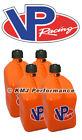 VP Racing 4-Pack Orange Fuel Jugs Diesel IMCA ATV UTV USMTS NHRA Alcohol Gas