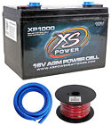 XS Power XP1000 2400W 16V Power Cell Car Battery Power System+Power/Ground Wires
