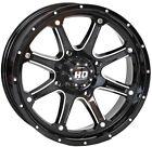 STI HD4 ATV UTV Wheel Machined Black 12x7 4/137 5+2 Beveled Seat