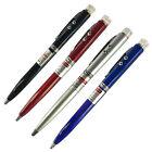 JN_ 3 in 1 Red Laser Pointer + Ballpoint Pen + LED Flashlight Black Lamp Stunn