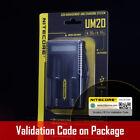 Nitecore UM20 USB Digi Charger Li-ion AA 18650 18500 16340 14500 18350 10440 LCD