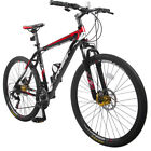 26 Inch Aluminum 21-Speed Mountain Bike Racing Bicycle Disc Brakes Black Red New
