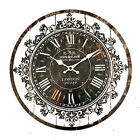 Wall Clock Tracery Vintage Rustic Shabby Art Clock Chic Home Office Cafe