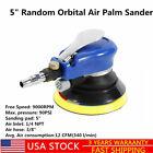 "HOT!5"" Air Palm Orbital Sander Random Hand Sanding Pneumatic Round 9000RPM 90PSI"