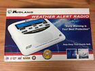 Midland Emergency Weather Alert Clock Radio With Digital Display WR-120EZ WR120B