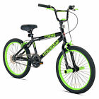 """Razor 20"""" High Roller Kids Freestyle BMX Bike with Front Pegs, Black and Green"""